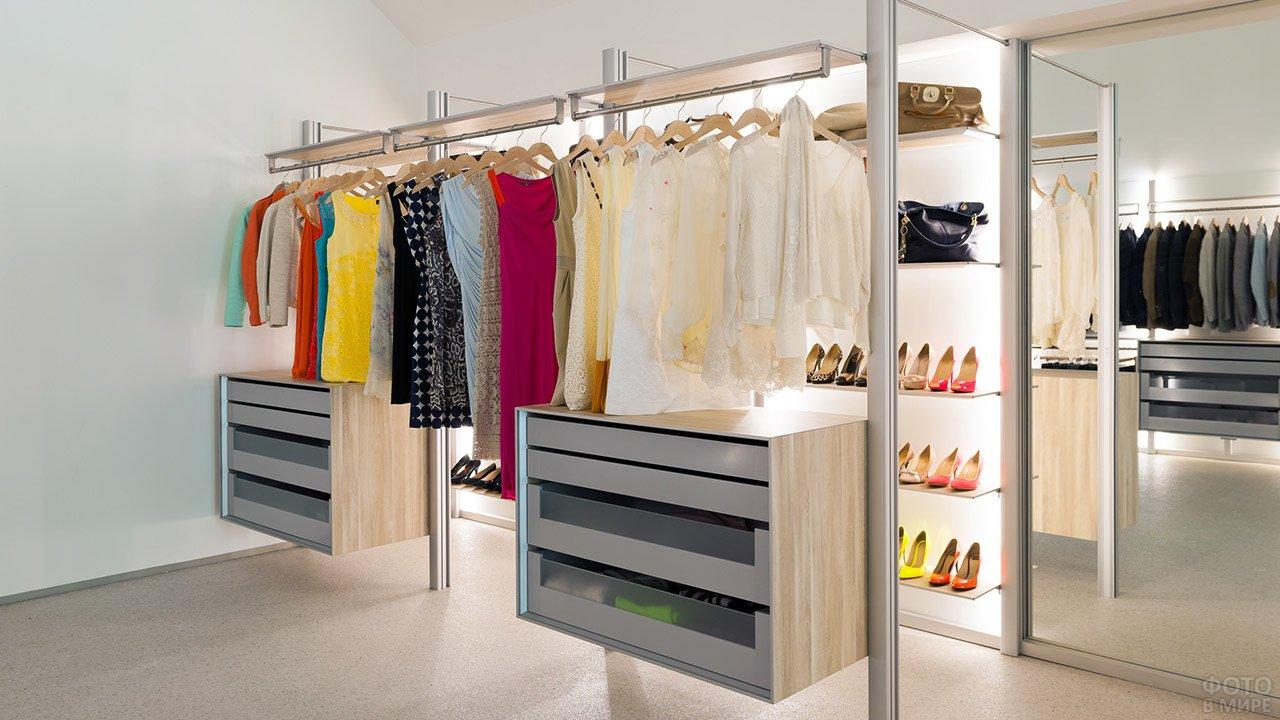 Модульная система хранения для гардеробной