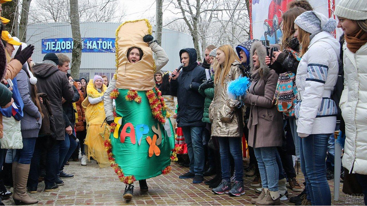 Аниматоры выступают перед студентами в Татьянин день