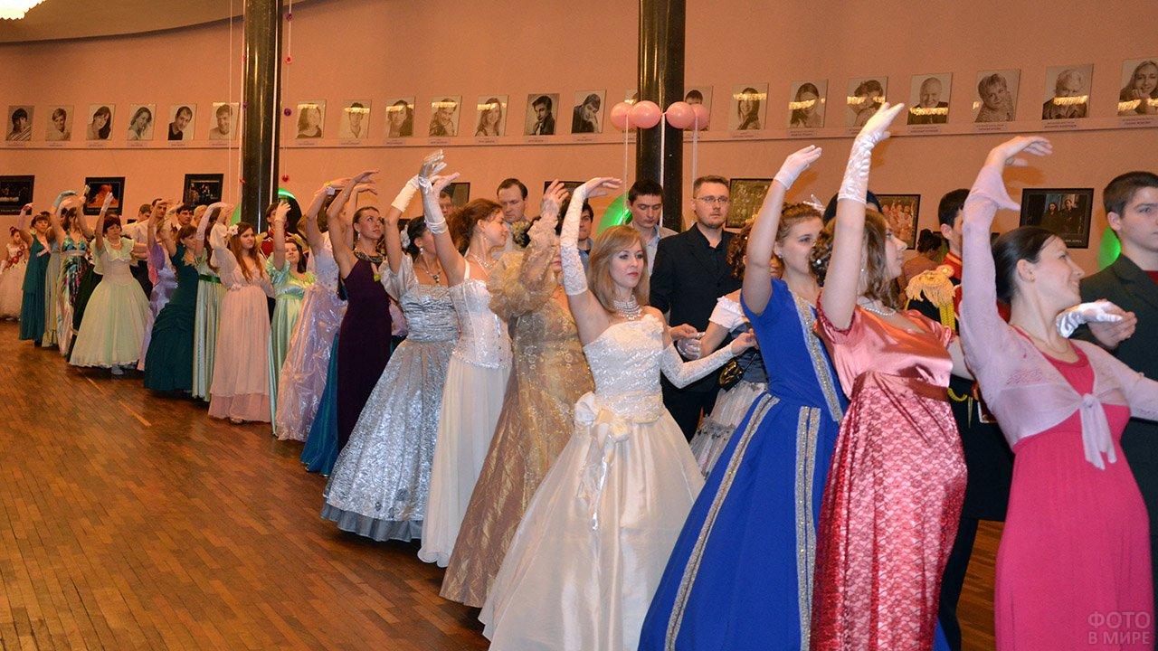 Новосибирский бал студентов в честь православного праздника Татьянин день