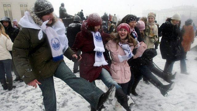 Студенты Московского Университета отмечают Татьянин день