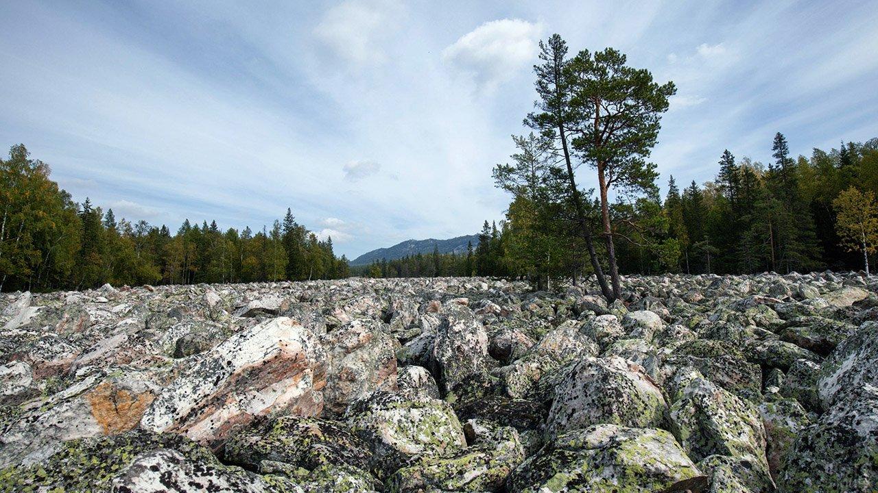 Большая Каменная река в парке Таганай