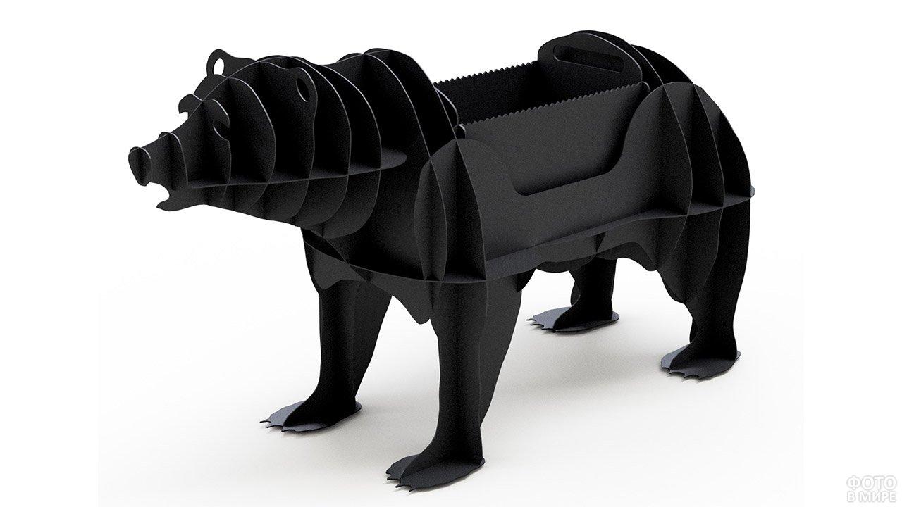 Декоративный мангал в форме медведя