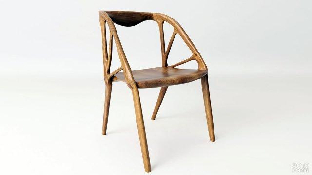 Деревянное кресло в эко-стиле