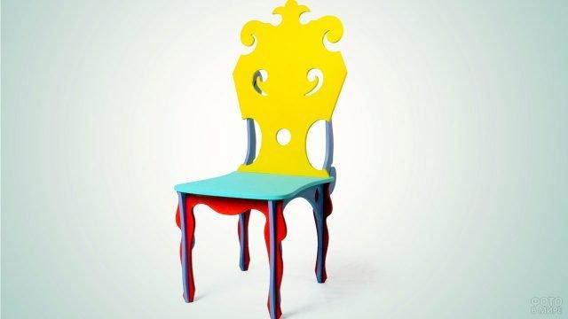 Яркий дизайнерский детский стул