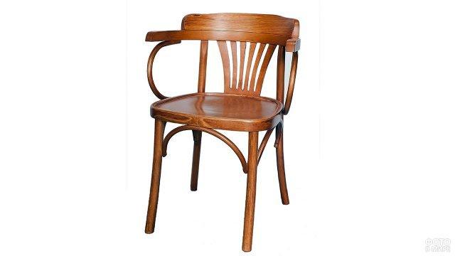 Винтажное венское кресло с жёстким сиденьем