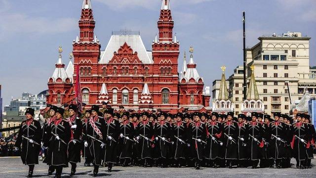 Кубанские казаки на параде Победы на Красной площади