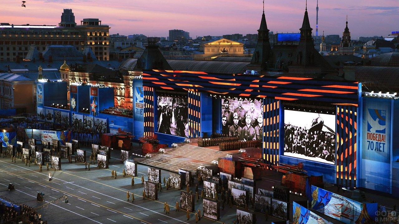 Праздничный концерт в честь Дня Победы на Красной Площади