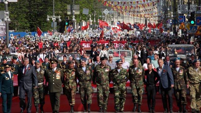 Тверской парад в День Победы