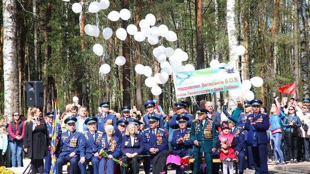 Ветераны на праздновании Дня Победы в Ленобласти
