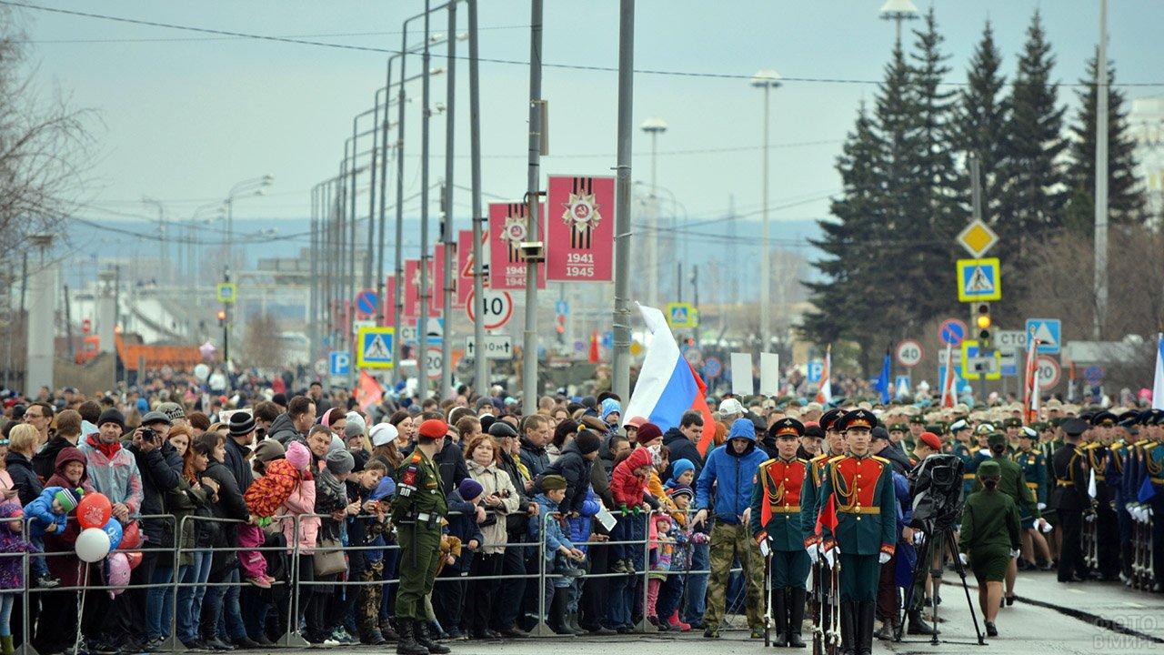 Военный парад 9 мая в Верхней Пышме Свердловской области