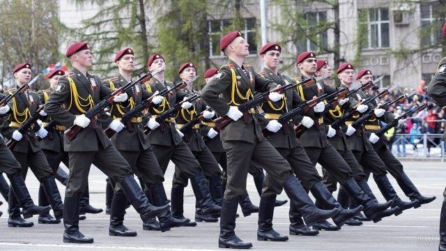 Военный парад в День Победы в Перми