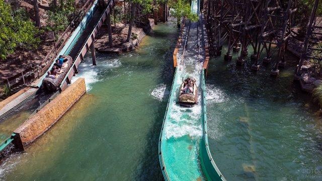 Водный аттракцион в тропичсеком парке развлечений