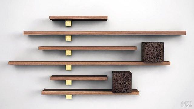 Комплект деревянных полок-консолей для декора