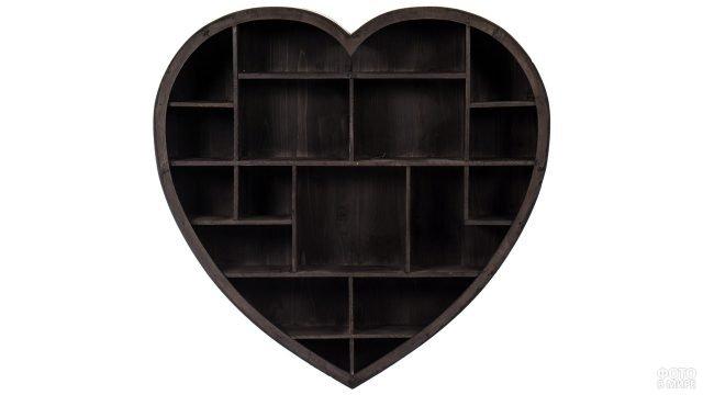 Полка для книг в виде сердца