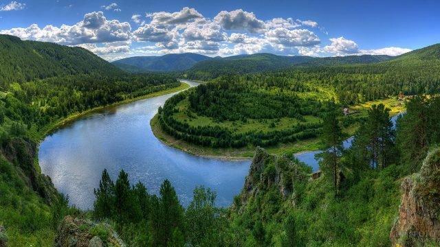 Петля сибирской реки