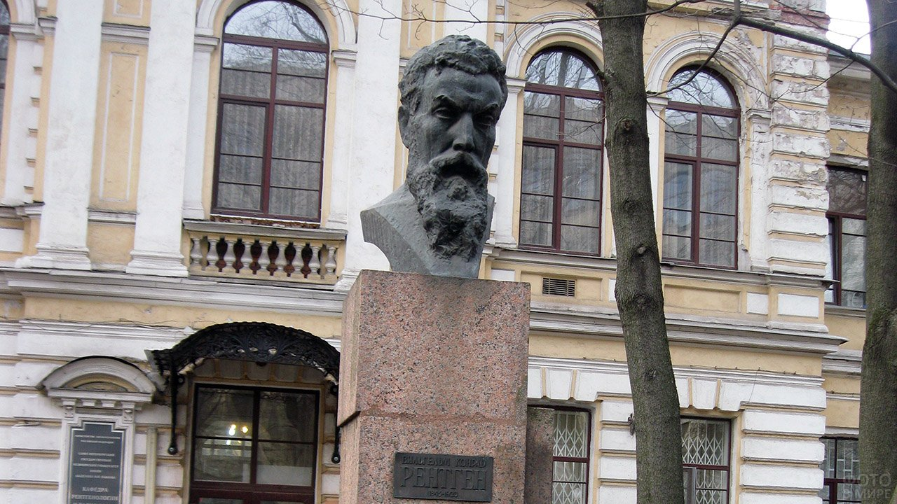Бюст Вильгельма Конрада Рентгена в Петербурге
