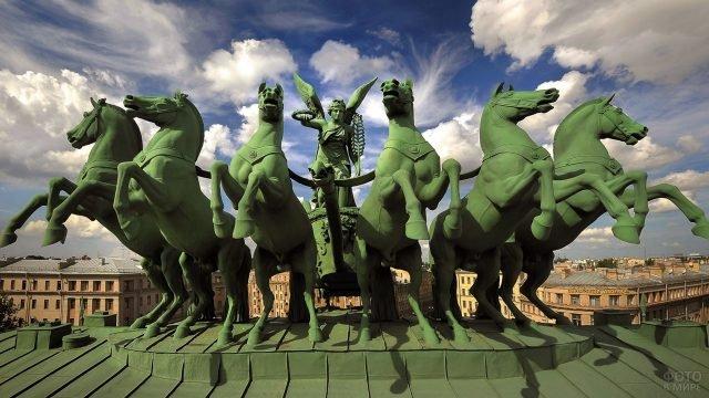 Конная группа Нарвских ворот в Петербурге