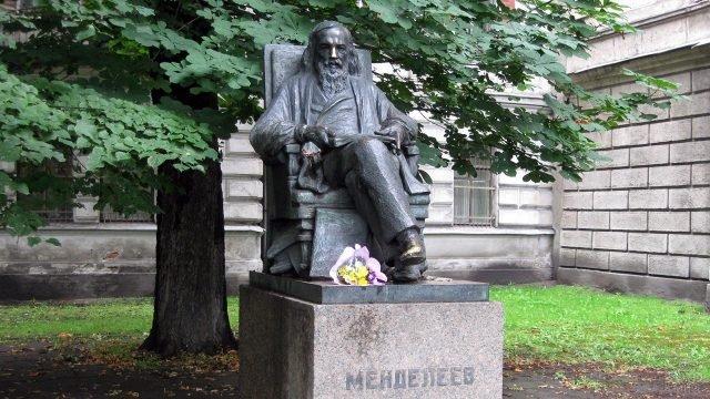 Памятник Менделееву в Санкт-Петербурге