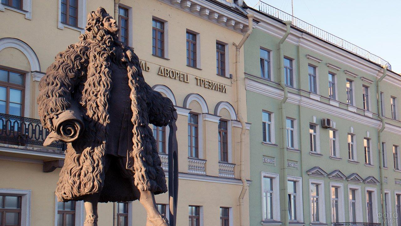 Памятник скульптору Доминико Трезини в Петербурге