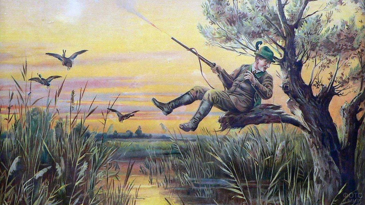 Картинка нарисованная охота