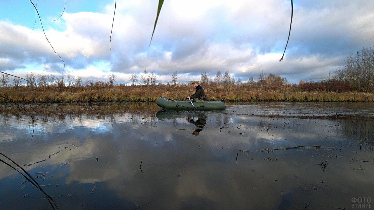 Утиная охота с подплывом на лодке