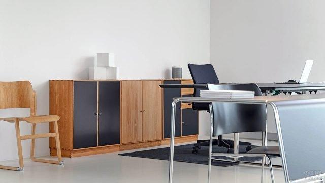 Минималистичный дизайн интерьера рабочего кабинета