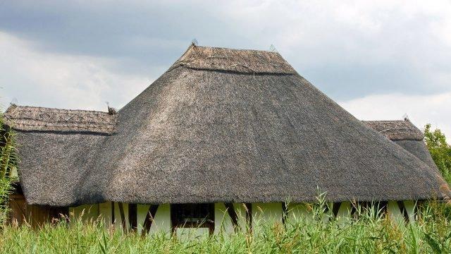 Соломенная крыша глиняного дома