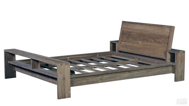 Каркас скандинавской кровати из массива сосны