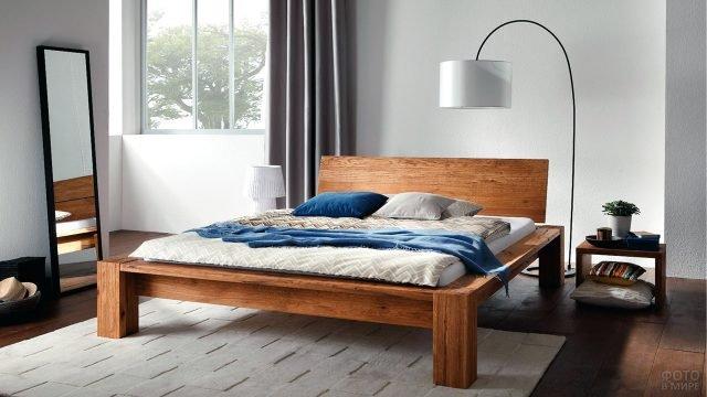 Скандинавская кровать в современном интерьере