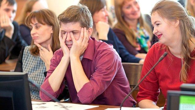 Участники форума в День российской науки в Алтайском ВУЗе