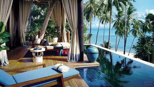 Вид из номера пятизвёздочного отеля в Тайланде