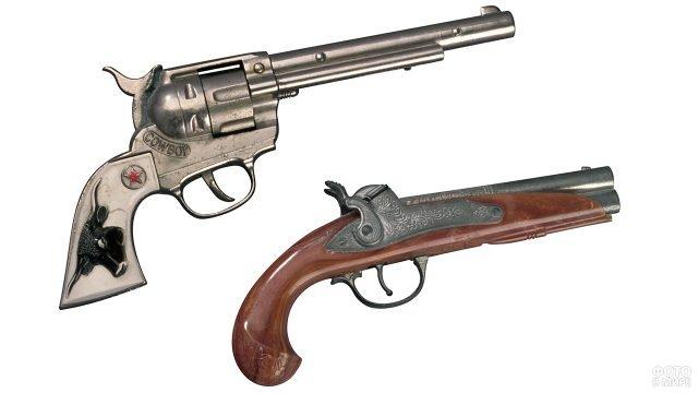 Кремниевый пистолет и револьвер