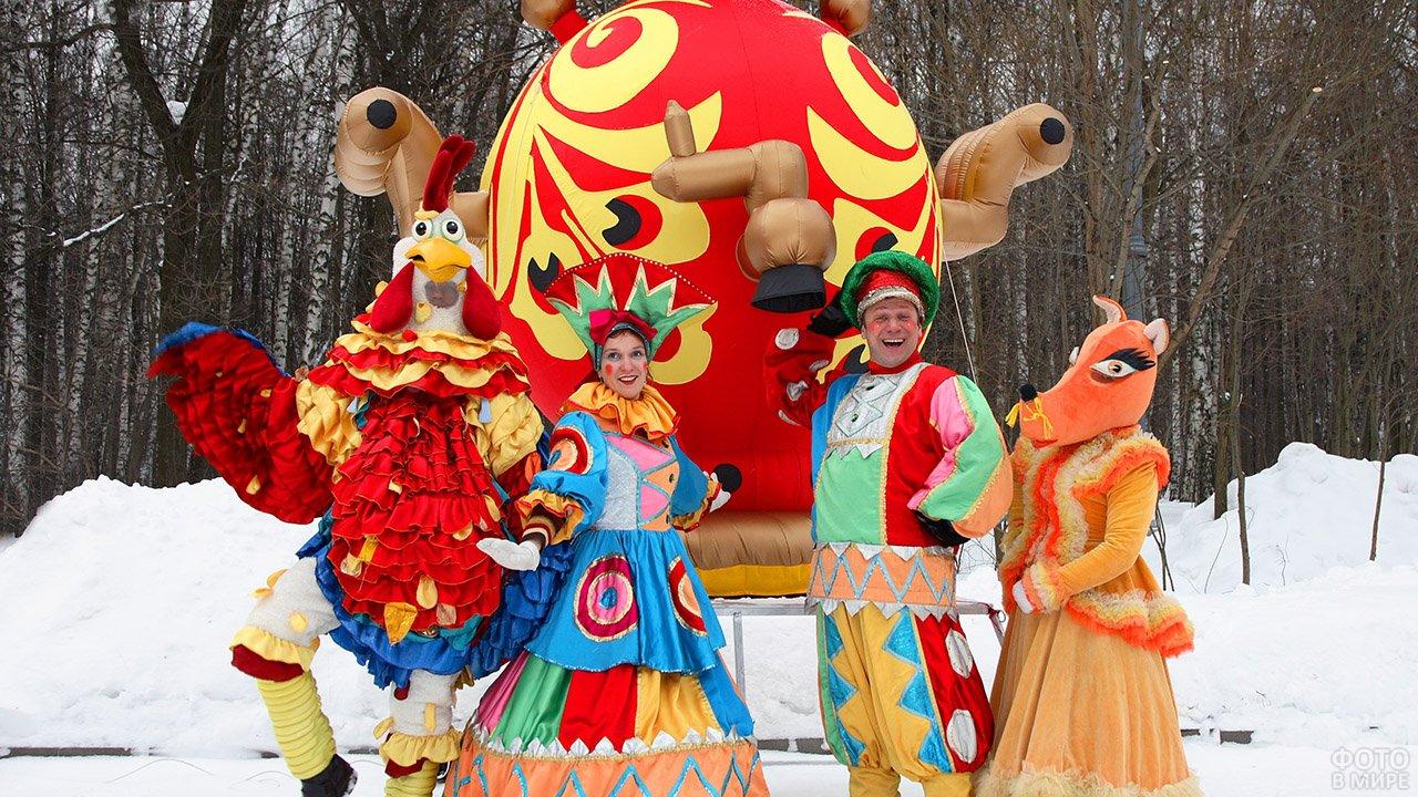 Аниматоры на празднике Масленицы в парке