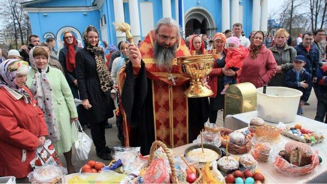 Пасхальная неделя с традиционным освящением куличей в Забайкальском крае