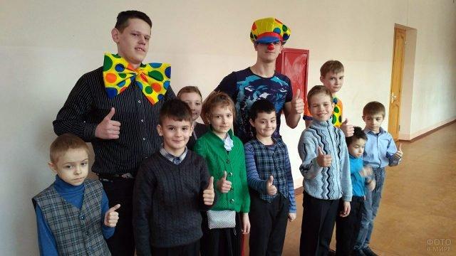 День смеха в Новгородской школе