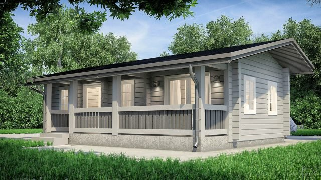 Финский эко-дом на зелёном дачном участке