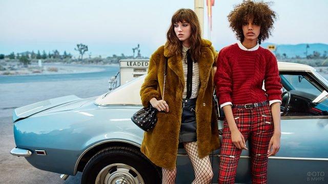 Шуба из чебурашки и свитер заправленный в джинсы - мода 80-х в Америке