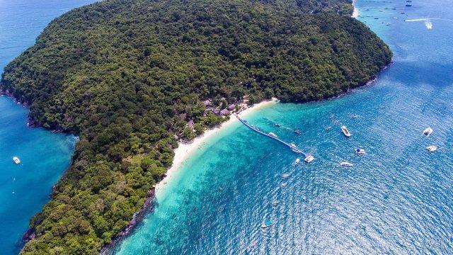 Остров Корал с высоты птичьего полёта