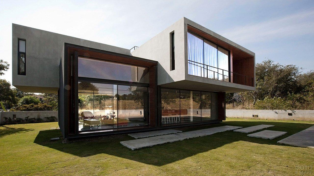 Дачный дом в стиле хай-тек