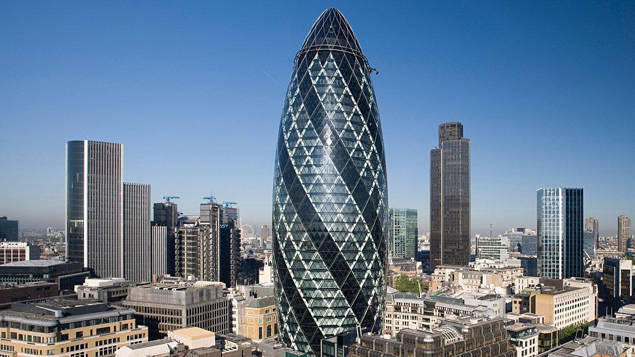 Лондонский небоскрёб в стиле хай-тек