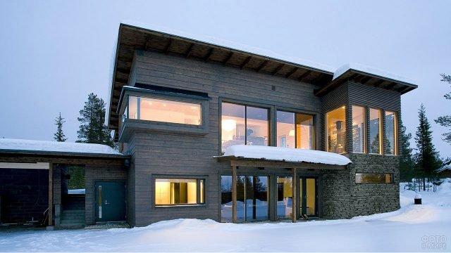 Финский дом из бруса в стиле минимализм
