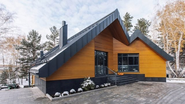 Стильный загородный дом в современном скандинавском стиле