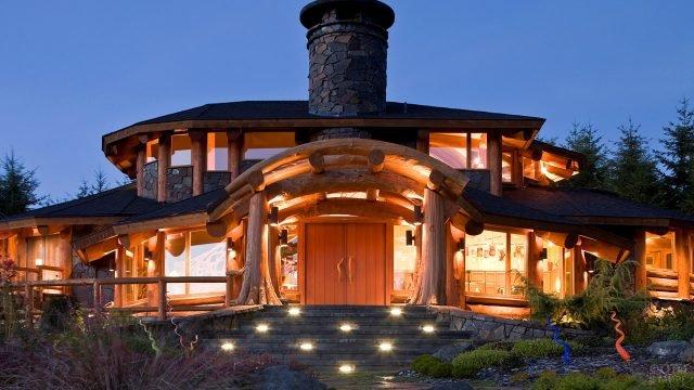Уникальный эко-дом из дуба