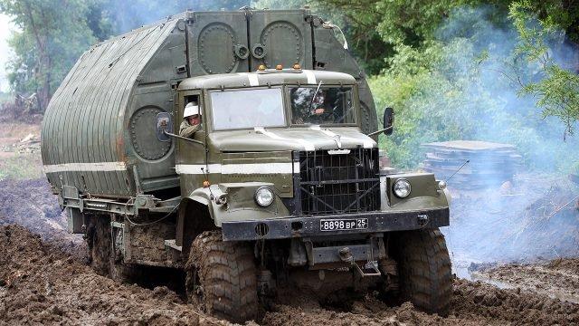 КРАЗ-255 понтоновоз на вооружении Инженерных войск России