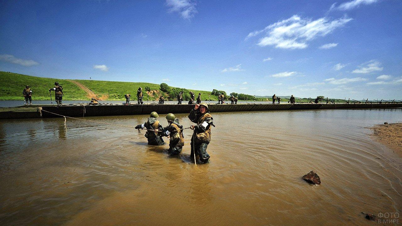 Солдаты Инженерных войск на командно-штабных учениях в Восточном военном округе
