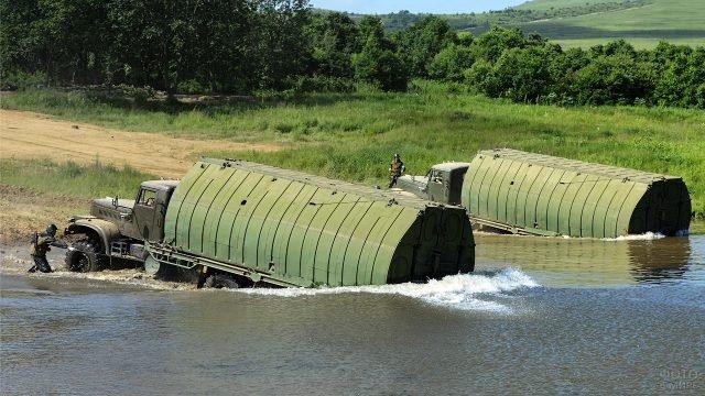 Учения Инженерных войск с применением понтонно-мостового парка