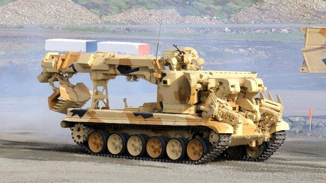 Уникальная инженерная машина разграждения ИМР-3 на базе Т-90