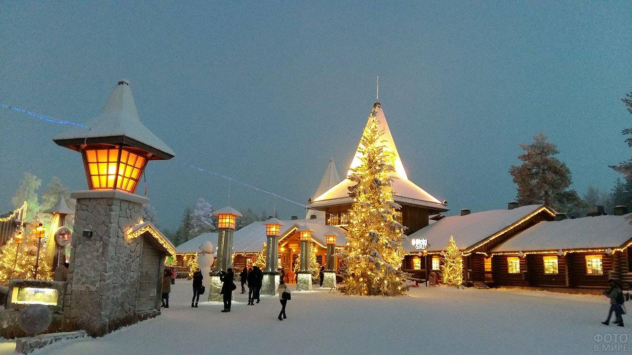 Рождественская деревня в Лапландии
