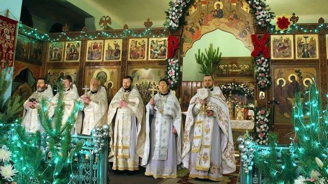 Рождественская служба в Царицынском православном университете