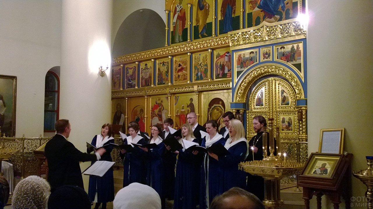 Рождественский концерт православного хора Литовской епархии